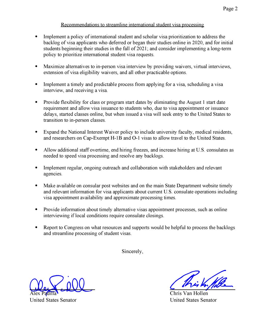 留学热点 | 美参议员联名致信协助国际生赴美,辉瑞成为首支FDA全面授权新冠疫苗......
